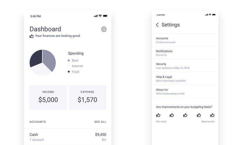 Finance Wireframe free figma ui mobile kit