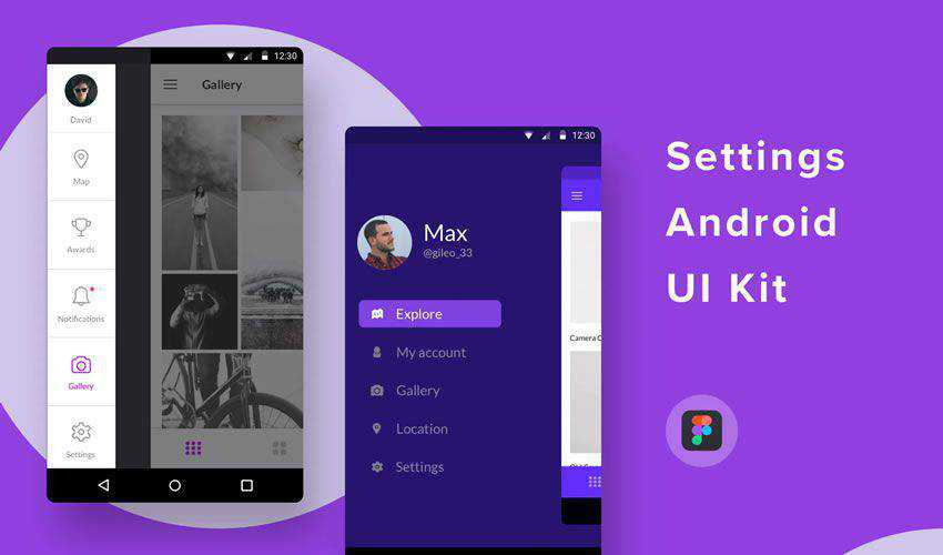 Android Settings UI Kit for Figma free figma ui mobile kit