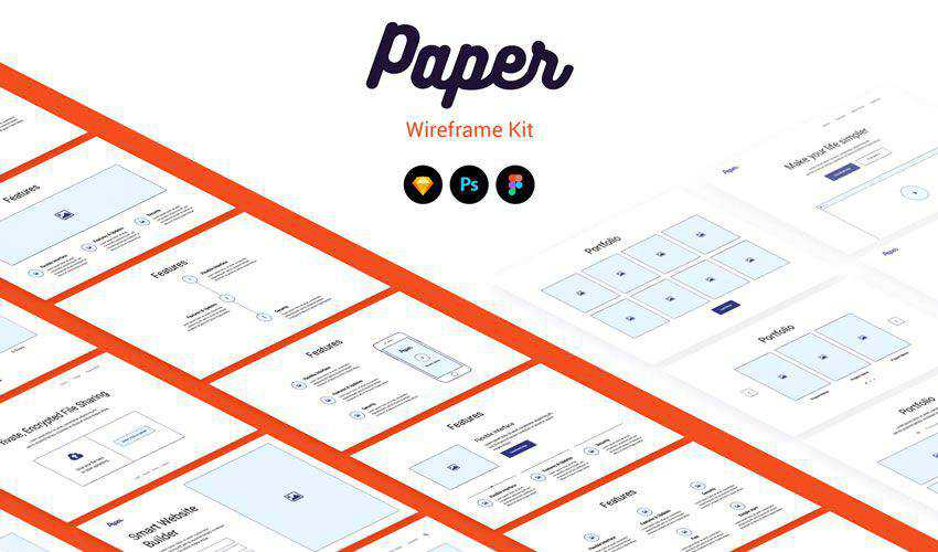 Paper Wireframe Kit free figma ui styleguide kit