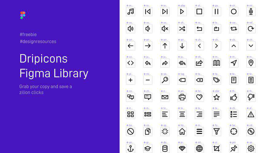 Dripicons free figma ui icon set