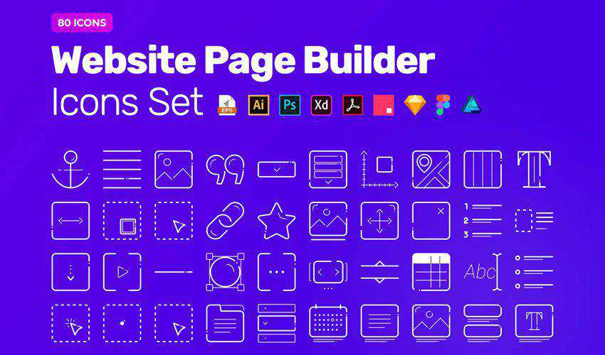 Website Page Builder free figma ui icon set