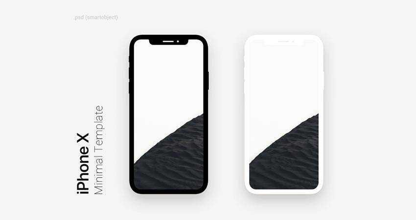 Minimal Dark Light iPhone X free iphone mockup template psd photoshop