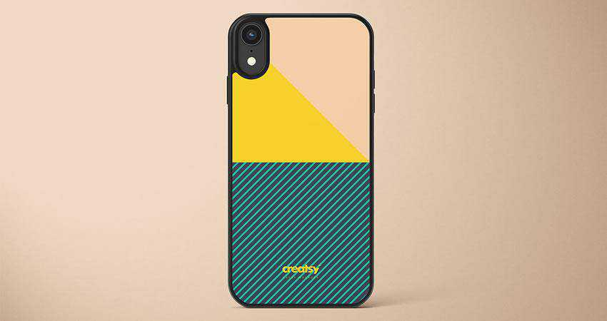 iPhone XR Case free iphone mockup template psd photoshop