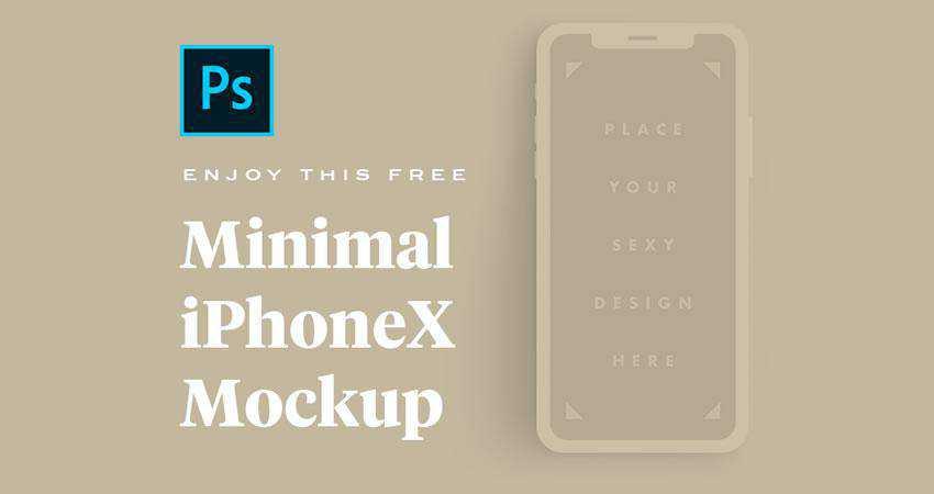 Minimal iPhone X Mockup free iphone mockup template psd photoshop