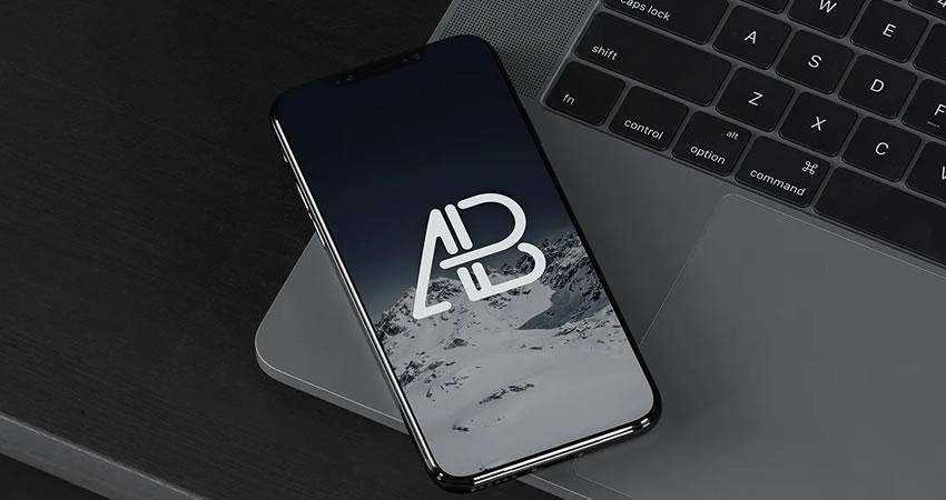 iPhone X On MacBook Pr free iphone mockup template psd photoshop
