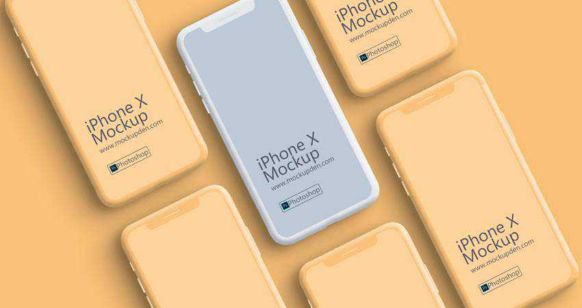 Clay iPhone X Device Mockup free iphone mockup template psd photoshop