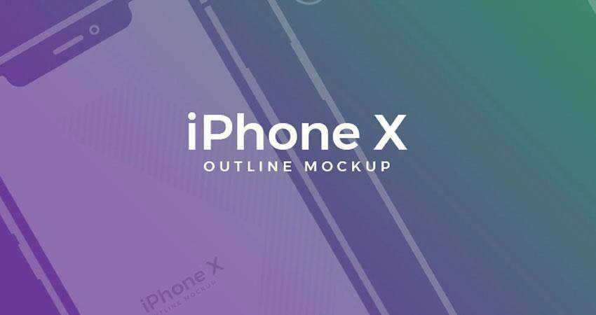 X Outline free iphone mockup template psd photoshop