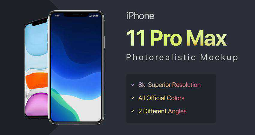 iPhone 11 Pro Max free iphone mockup template psd photoshop