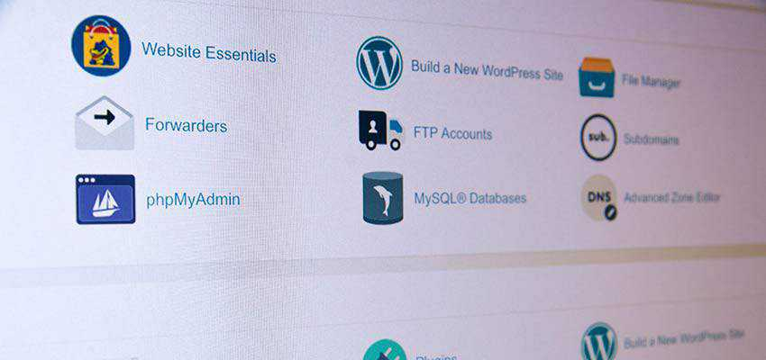 A web hosting control panel.