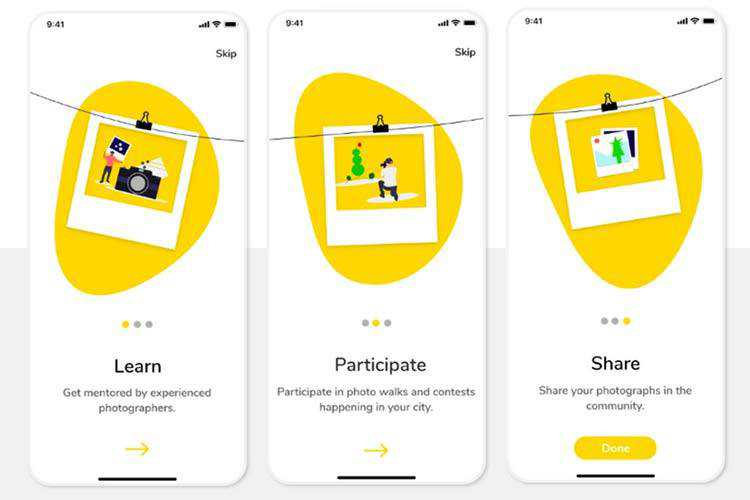 8 Beautifully Illustrated Onboarding Screens in Mobile Design