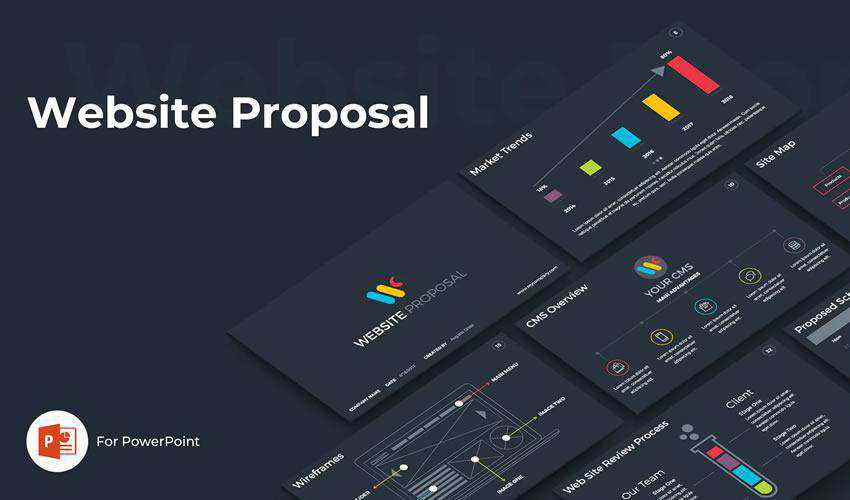 Website powerpoint business proposal presentation template