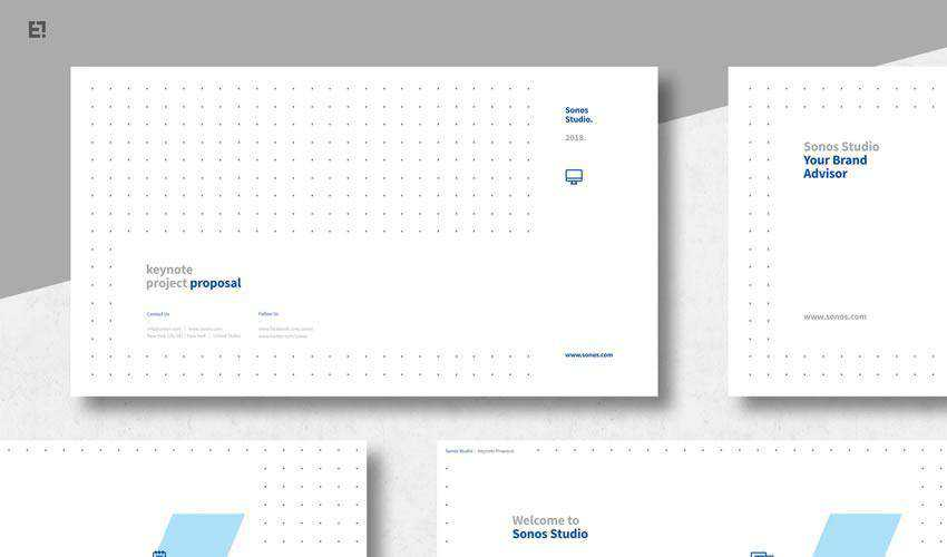 clean powerpoint business proposal presentation template
