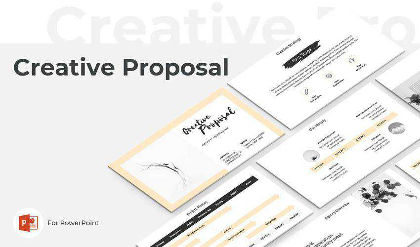 Creative powerpoint business proposal presentation template
