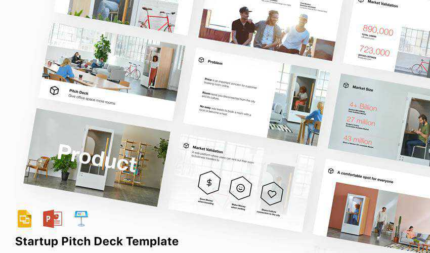 Startup Pitch Deck powerpoint business proposal presentation template