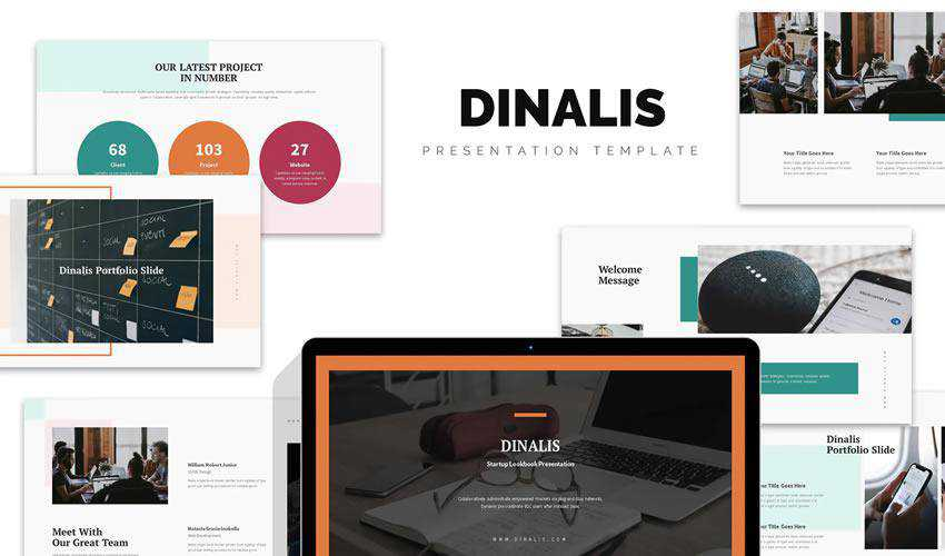 Dinalis Startup powerpoint business plan presentation template