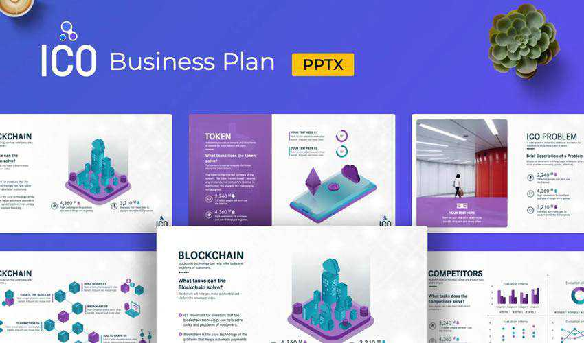 ICO powerpoint business plan presentation template