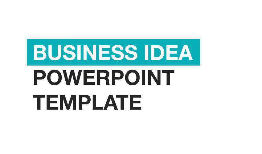 powerpoint business idea presentation template