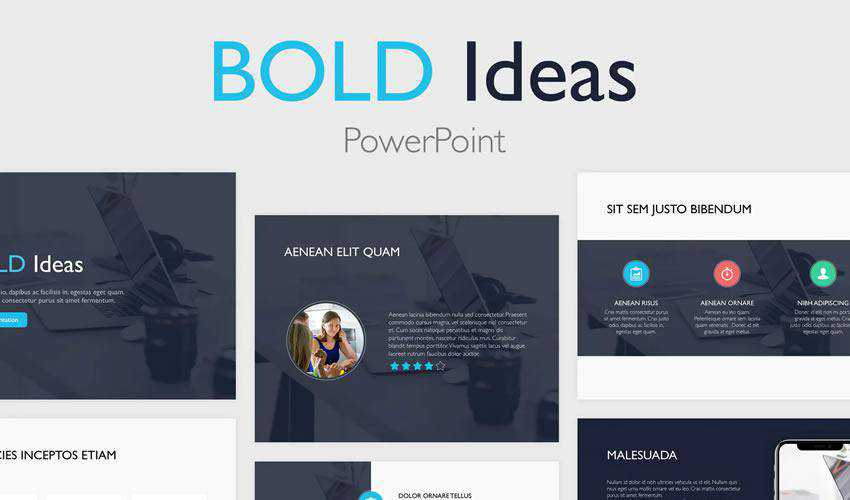 bold powerpoint business plan presentation template