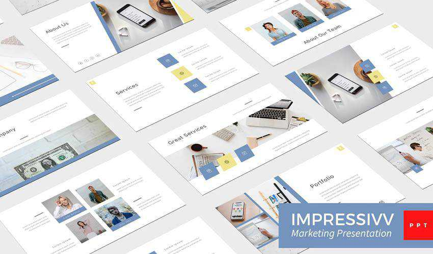 Impressivv Marketing powerpoint business presentation template