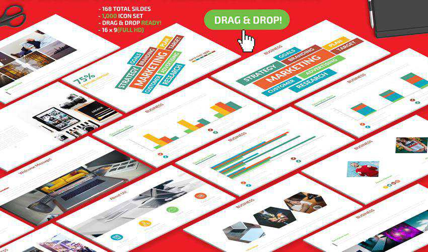 Marketing powerpoint business presentation template