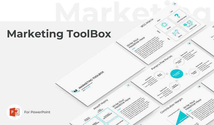 Marketing Toolbox powerpoint business presentation template