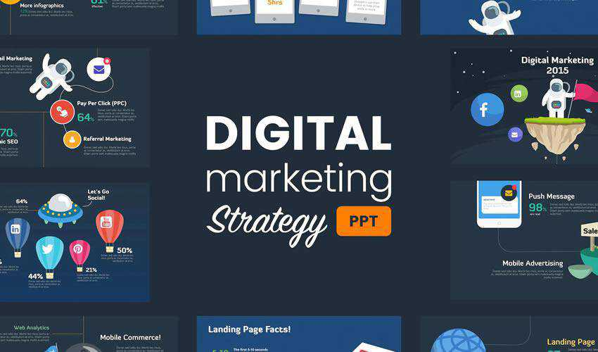 Digital Marketing Strategy powerpoint business presentation template