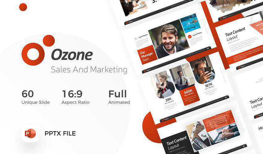 Ozone Marketing powerpoint Business Sales presentation template