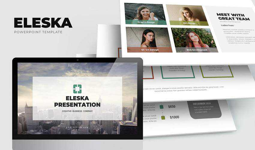 Eleska Marketing powerpoint Business Sales presentation template