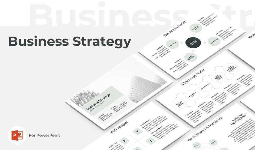 powerpoint business strategy presentation template