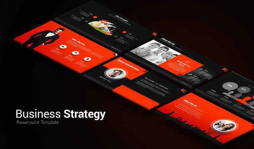 Modern powerpoint business strategy presentation template