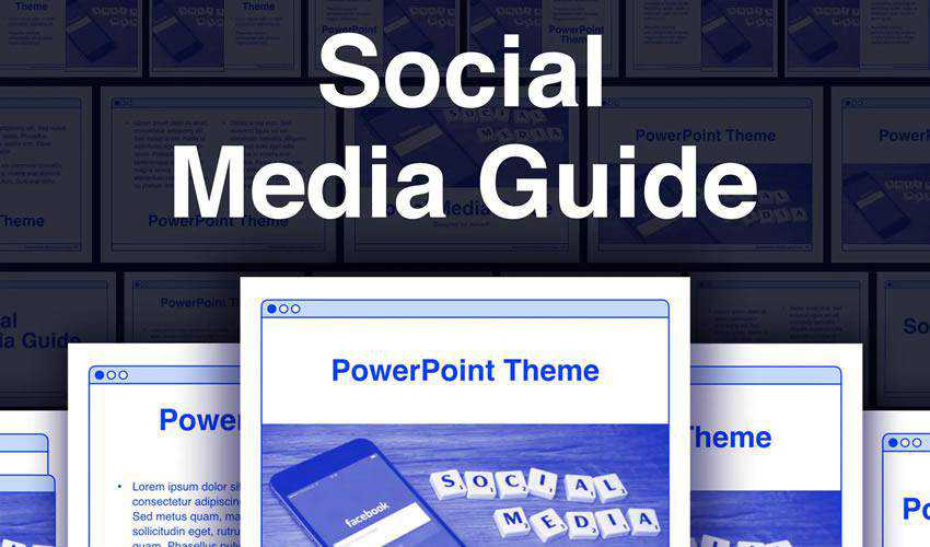 Guide powerpoint social media presentation template