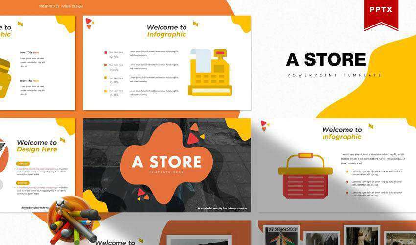 store powerpoint ecommerce shop presentation template