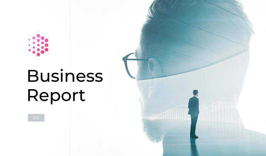 Report 2.0 powerpoint general business multipurpose presentation template
