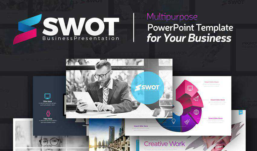 swot powerpoint general business multipurpose presentation template