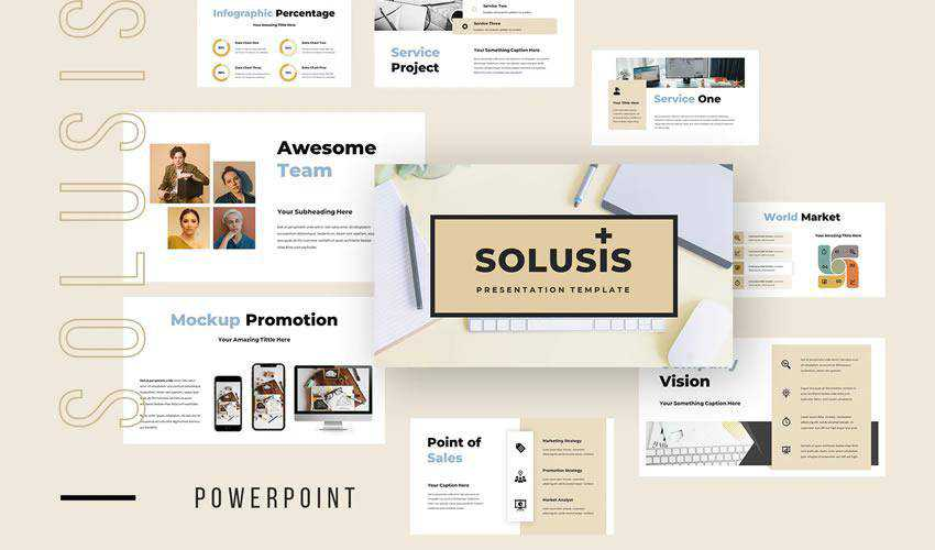 Solusis powerpoint general business multipurpose presentation template