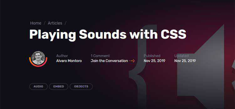 Example from Playing Sounds with CSS