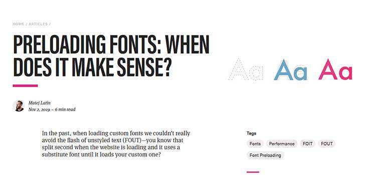 Preloading Fonts: When does it make sense?