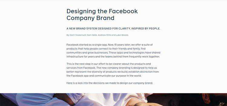 Designing the Facebook Company Brand