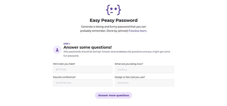 Easy Peasy Password