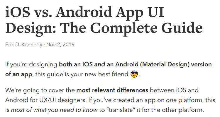iOS vs. Android App UI Design