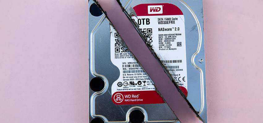 Broken hard drive.