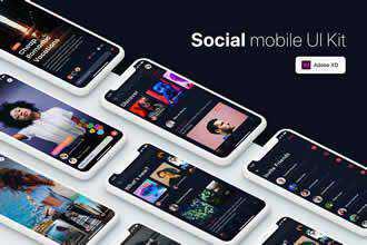 Social Mobile UI Kit