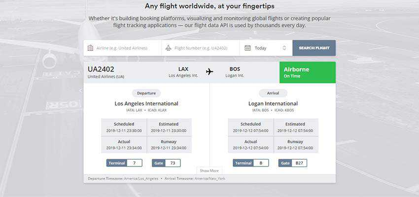 aviationstack real-time flight tracking
