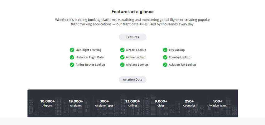 aviationstack feature listing