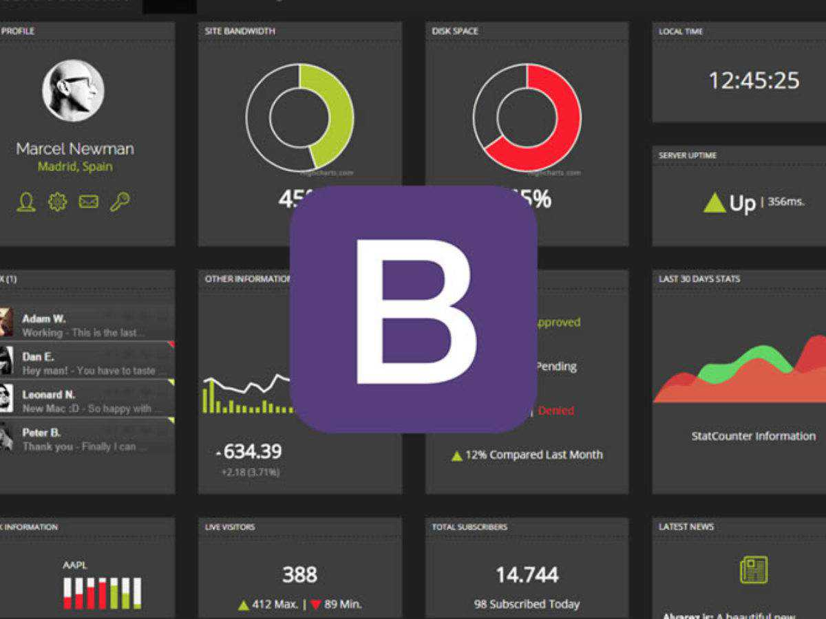 20 Free Bootstrap Admin Dashboard Templates For 2020