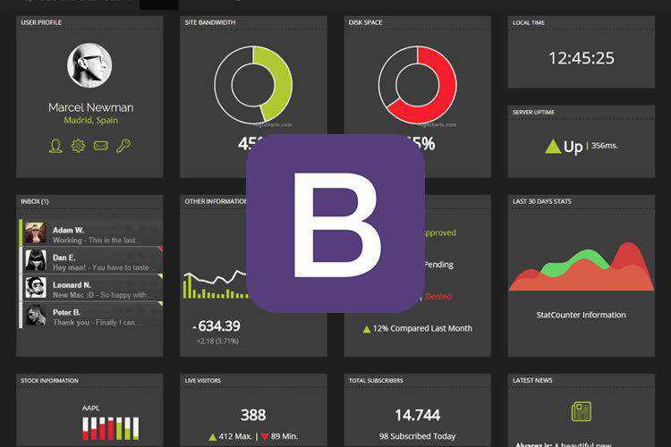 20 Free Bootstrap Admin & Dashboard Templates