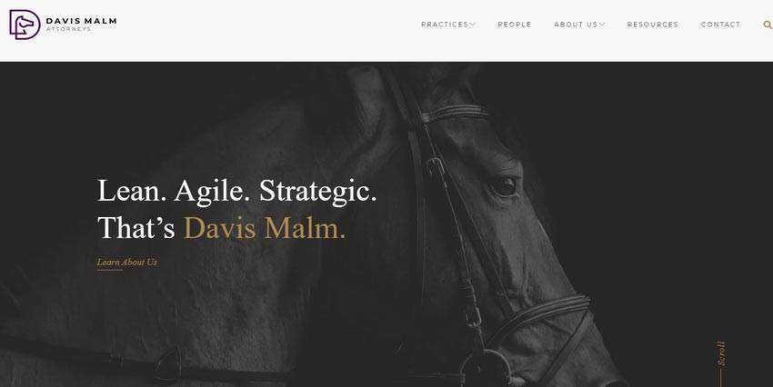 Example from Davis Malm Attorneys