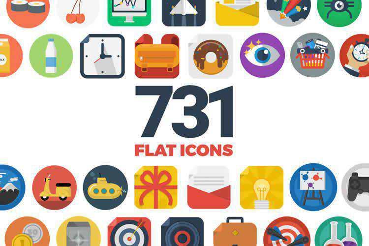 731 Flat Icons