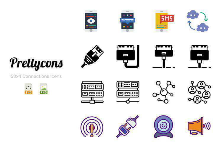 Prettycons Flat Icon Set