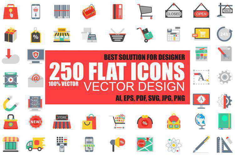 Flat Vector Icon Set